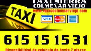Taxisierra Colmenar Viejo 615151531