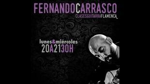 Clases de guitarra flamenca con Fernando Carrasco