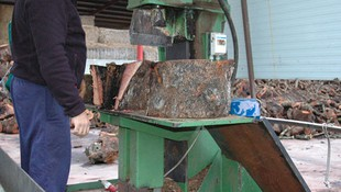 Procesado de troncos de madera