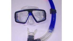 Gafas con tubo para buceo