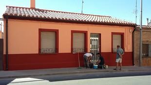 Durante la obra de rehabilitación de fachada y tejado