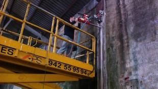 Extracción de testigo de un pilar mediante Hilti