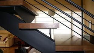 Vista lateral de una escalera