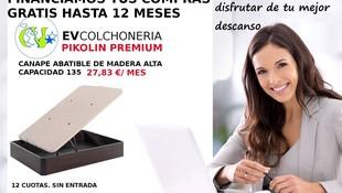 EV Colchonerías: financiamos tu compra sin intereses