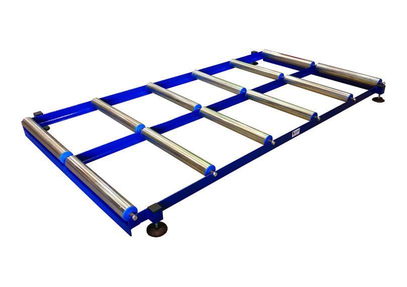 Transportador Rodillos libres Acero Carbono, altura regulable