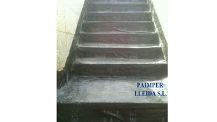 Impermeabilización de escaleras