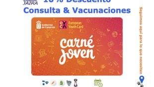 Ahora con tu Carné Joven: 10% Descuento Consulta & Vacunaciones