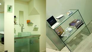 Creación de mueble auxiliar en cristal