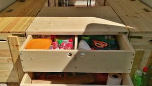 Cajones a medida con maderas recicladas