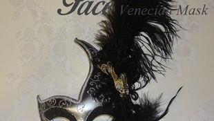 Máscara Cigno pluma