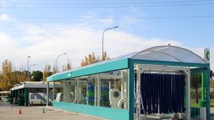 Acceso túnel de lavado Estación de Servicio Navalcarro BP