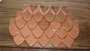 cubierta de cobre, escama de pez