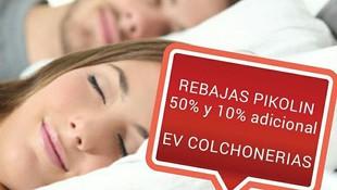 EV Colchonerías: rebajas 50% y 10% dto. adicional colchones Pikolin