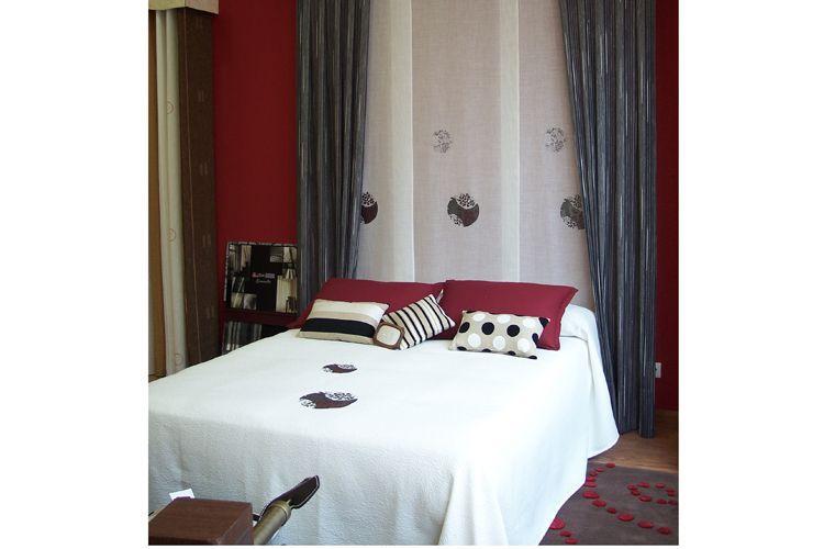 Combinación de telas para habitaciones