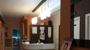 Recepción de la Clínica Virxen da Mariña, Burela (Lugo)