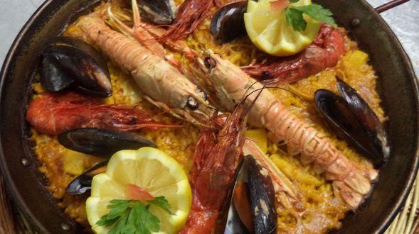 paella especial de marisco