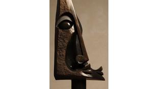 Two Faces Totem, 115 X 51 cm. Amos Supuni