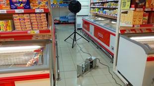 Ensayo de aislamiento a ruido aéreo y ruido de impacto en supermercado