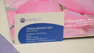 Tarjeta de visita  Tomás Acupuntura Energy