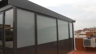 Cerramiento de terraza en aluminio