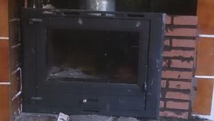 instalación de cassette de leña