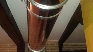 Montaje chimenea acero inoxsidable de doble pared