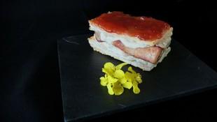 Milhoja de Crema, nuestra tapa de la XI Ruta Gastronómica del Atún en Barbate