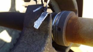 falta de mantenimiento: turbina de ventilacion, cojinete destrozado
