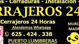 Cerrajeros urgentes 24 horas en Toledo, Murcia y Almería
