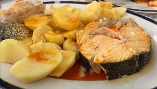 Platos de pescado en Pontevedra
