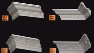 Molduras para revestir techos con tecnología Skin-Tec