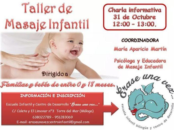 Taller de masaje infantil en Érase una Vez