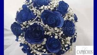 Ramo de rosas azules en Parla