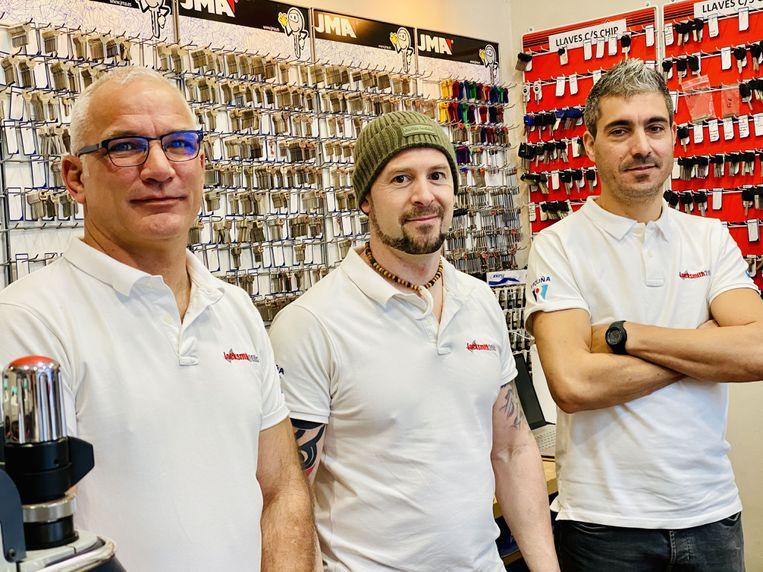 Nuestros técnicos. Octavio, Jorge y Lucas. Servicio profesional. Cerrajería Locksmith Marbella empresa homologada UCES Matricula 1489.