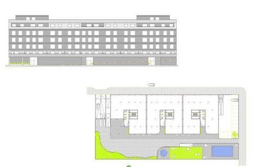 Proyecto básico  de 88 viviendas en El Paseo del Castañar, Guadalajara.  CERQUIA