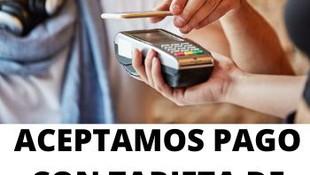 Aceptamos pago con tarjeta de crédito o débito