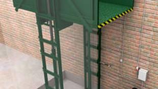 Elevador montacargas doble columnas enfrentadas