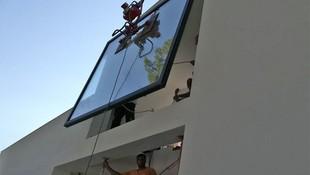 Instalación de cerramientos de cristal