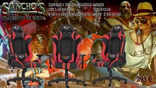 Sillas Gamer, disfruta de  tus sesiones de juego o trabajo con sillas ergonómicas, confort garantizado en Papelería Sancho's