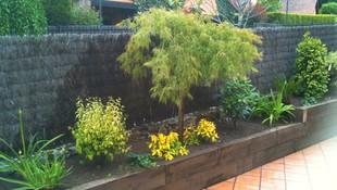 Jardineras de madera en terrazas
