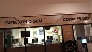 Centro de copias en el barrio de Salamanca, Madrid