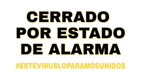 Cerrado por Estado de Alarma