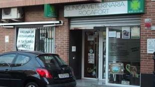 Fachada de la Clínica Veterinaria Rocafort