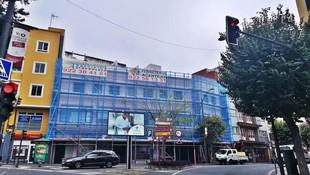 Alquiler y montaje de andamio multidireccional. Rehabilitación de fachada. La Orotava.