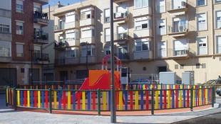 Vallas de colores para parques infantiles