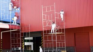 Trabajos de pintura industrial