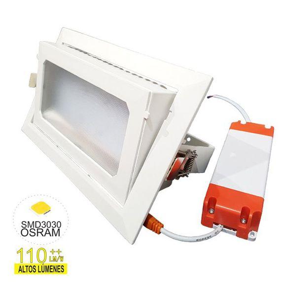 Down Light rectangular de alta intensidad lumínica
