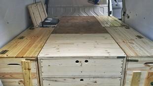 Cajones adaptados para furgonetas