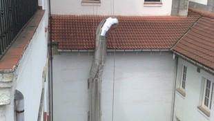 Colocacion de chimenea