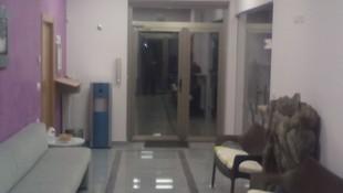 Sala de espera del velatorio en Guardo (Palencia)